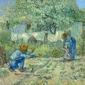First steps, after millet, vincent van gogh - plakat wymiar do wyboru: 84,1x59,4 cm