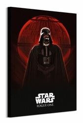 Star Wars Rogue One Darth Vader i Death Star - obraz na płótnie