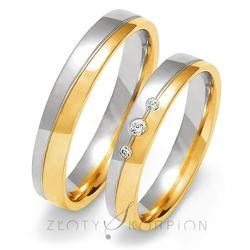 Obrączki ślubne złoty skorpion – wzór au-oe200