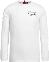 Koszulka z długim rękawem aston martin red bull racing - biały