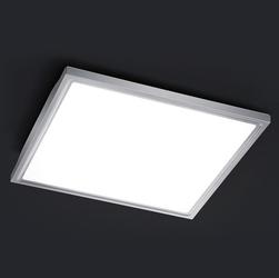 Kwadratowa lampa sufitowa led z metalową podstawą future 40