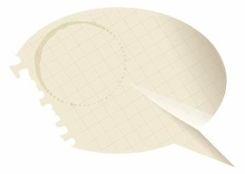 tablica suchościeralna 148 papierowy dymek