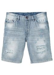 Bermudy dżinsowe bonprix niebieski bleached used
