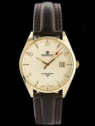 Zegarek na pasku brązowym meski PERFECT C530T - DŁUGI PASEK zp214f