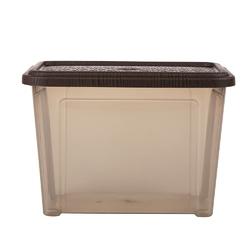 Pojemnik  organizer do przechowywania modułowy tontarelli combi box z pokrywką arianna brązowy 4,6 l