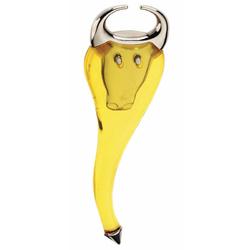 Otwieracz do butelek żółty Tore Bugatti