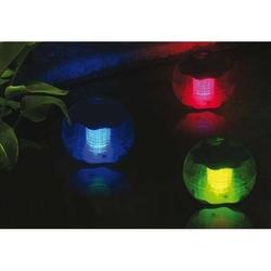 Lampy solarne 5 kul, kolorowe, zestaw