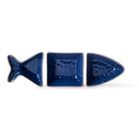 Sagaform - seafood - miska ryba do serwowania, niebieska - niebieski