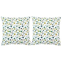 Vidaxl poduszki, 2 szt., z nadrukiem, zielone, 40x40 cm, bawełna