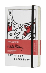 Notes Moleskine Keith Haring kieszonkowy biały w linie