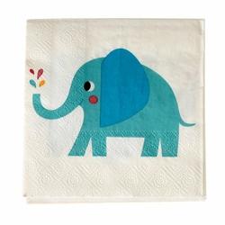 Serwetki koktajlowe 20 szt., Słoń Elvis, Rex London - słoń elvis