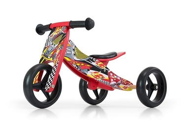 Milly mally jake red cars drewniany rowerek biegowy 2w1 + prezent 3d
