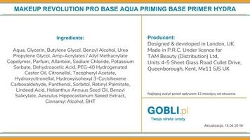 Makeup revolution pro base aqua priming base, baza pod makijaż 100ml