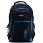 Pojemny plecak sportowy z kieszonką na laptopa bag street czarnoniebieski