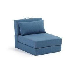 Fotel rozkładany arty niebieski