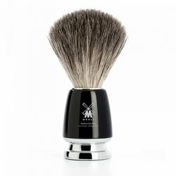 Muhle męski pędzel do golenia rytmo black z włosia borsuka czarny 81m226