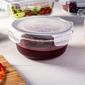 Pojemnik żaroodporny do mikrofali i piekarnika  do przechowywania z pokrywą z tworzywa altom design vega okrągły 1 l