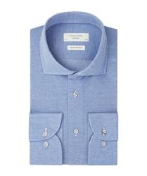 Niebieska koszula z dzianiny profuomo sky blue 37
