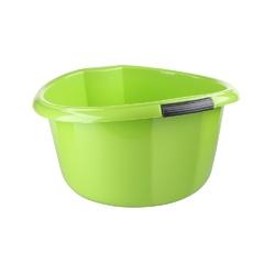 Miska na pranie  łazienkowa z uchwytami plastikowa okrągła solidna bentom seledynowa 15 l