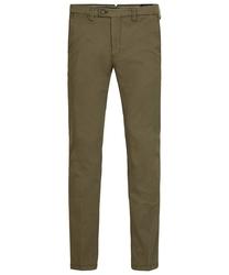 Męskie spodnie typu chino w kolorze army 3634