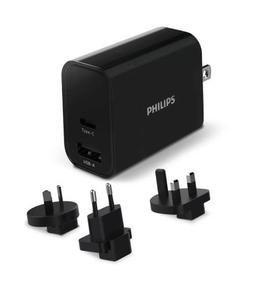 Philips ładowarka usb-a usb-c 30w pd, qc