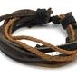 Bransoletka sznurek skóra brązowa - brown