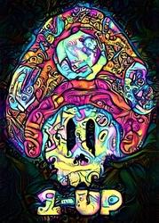 Psychoskulls, 1up, mario nintendo - plakat wymiar do wyboru: 70x100 cm