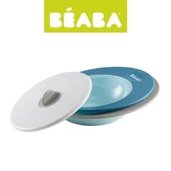 Beaba komplet talerzyk i miseczka z pokrywką ellipse blue