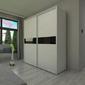 Szafa przesuwna s230 x 245 - barwione szkło
