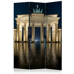 Parawan 3-częściowy - berlin nocą room dividers