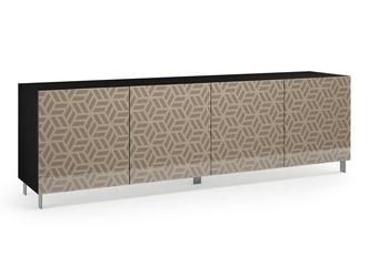 Nowoczesna komoda calisia beżowa z motywem geometrycznym  szer. 240 cm
