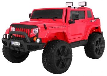 Mighty jeep 4x4 czerwony dwuosobowy samochód na akumulator