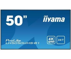 IIYAMA Monitor 50 cali LH5050UHS-B1 4K,247,AMVA3,LAN,DAISY