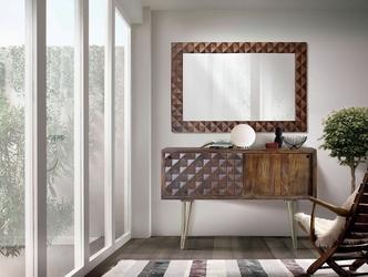 Drewniana komoda ilusion na wysokich nóżkach  szer. 120 cm