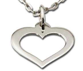 Wisiorek z białego złota serce wec-b-wis-serce-45