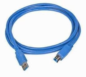 Gembird Kabel USB 3.0 typu AB AM-BM  3m niebieski