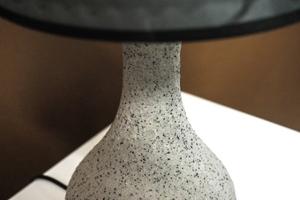Lampka nocna szary marmurek h - 40 cm