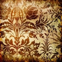 Naklejka samoprzylepna ozdobny brązowy tło