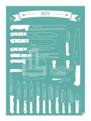 Plakat Noże turkusowy 30 x 40 cm