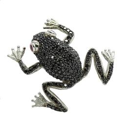 Felix; srebrna broszka z cyrkoniami