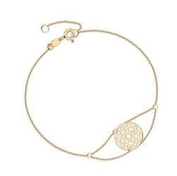 Staviori bransoletka ażurowe kółko z sercami. żółte złoto 0,333. średnica 12 mm.  długość regulowana 17cm lub 18cm.