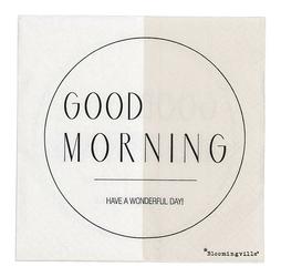 Serwetki Good Morning biało-beżowe 20 szt.