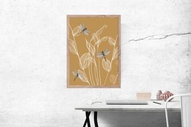 Ważki - plakat wymiar do wyboru: 50x70 cm