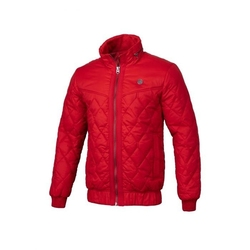 Kurtka zimowa pit bull west coast quilted jacket sunset red - red