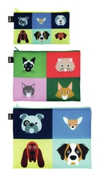 Saszetki Zip Pockets 3 szt. Stephen Cheetham Cats  Dogs
