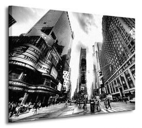Times square bw new york - obraz na płótnie