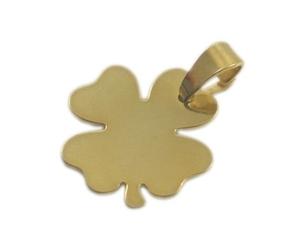 Zawieszka koniczynka srebro pokryte złotem grawer tekstu