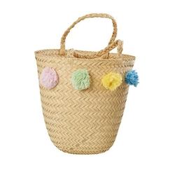 Koszyk plażowy pompony rice