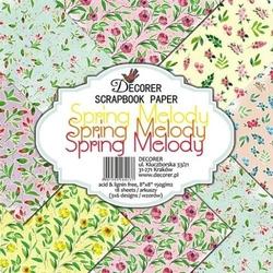 Papier do scrap. 20,3x20,3 cm Spring melody18 szt.