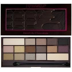 Makeup revolution 16 eyeshadows i love makeup death by chocolate, paleta kolorów 22g
